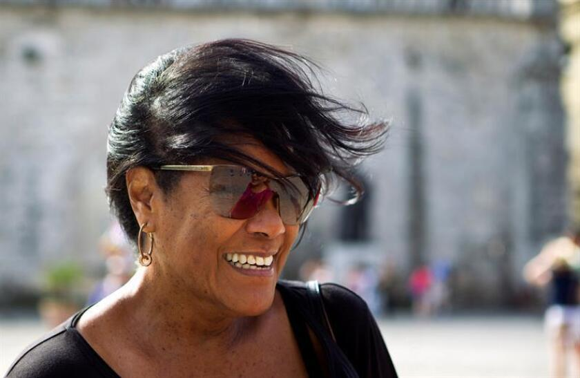 Music researcher Rosa Marquetti is seen on Feb. 8, 2019, during an interview with EFE to talk about her new book that tells the life stories of Cuba's famed musicians before or at the beginning of the island's revolution. EFE-EPA/Yander Zamora