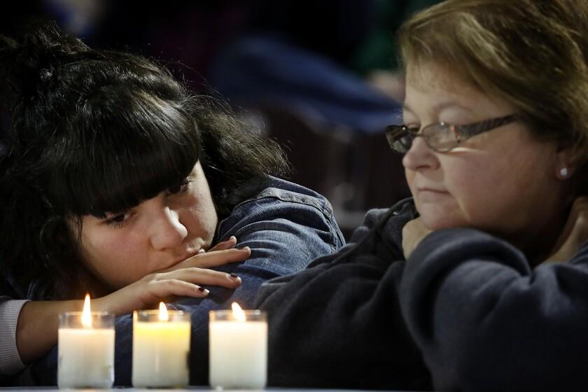 A vigil for victims in San Bernardino