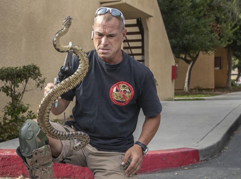 Rattlesnake wrangler Bo Slyapich