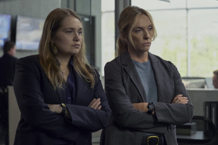 "Merritt Wever, left, and Toni Collette in ""Unbelievable"""