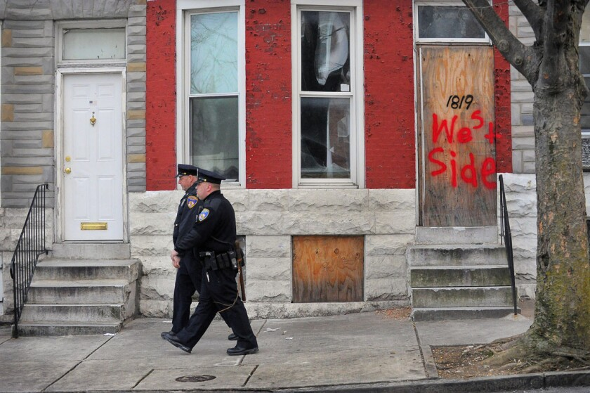 Patrols in West Baltimore