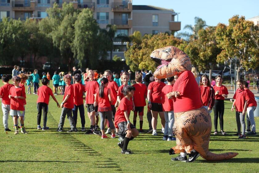 The annual Sandpiper Sprint at Solana Pacific School