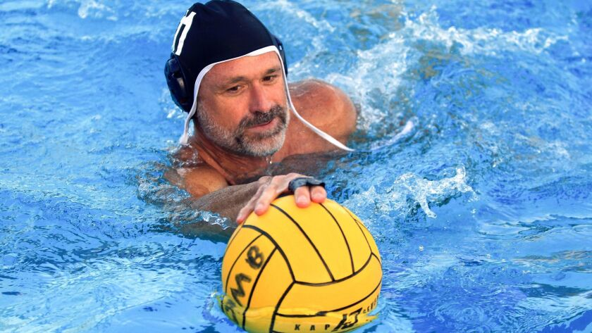 Three water polo sessions a week are part of John Martin's fitness routine.