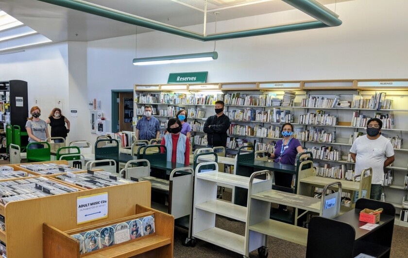 The staff at the Carmel Valley Library.