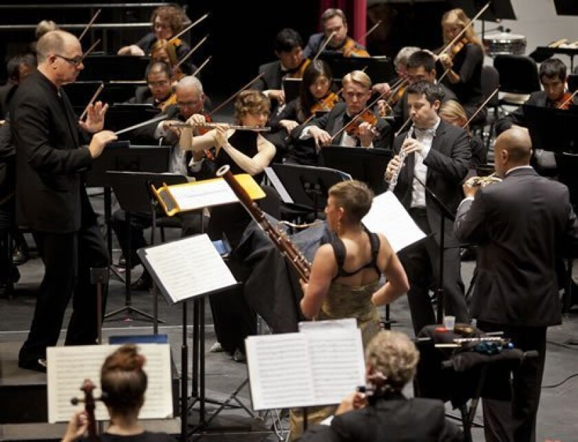Steven Schick conducts the La Jolla Symphony & Chorus. Courtesy Photo