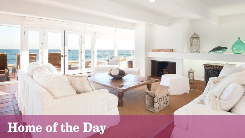 Designed by Edward Fickett and built in the late 1960s, this oceanfront home in Malibu features walls of windows and glass doors, open-area public rooms and panoramic views of the coastline.