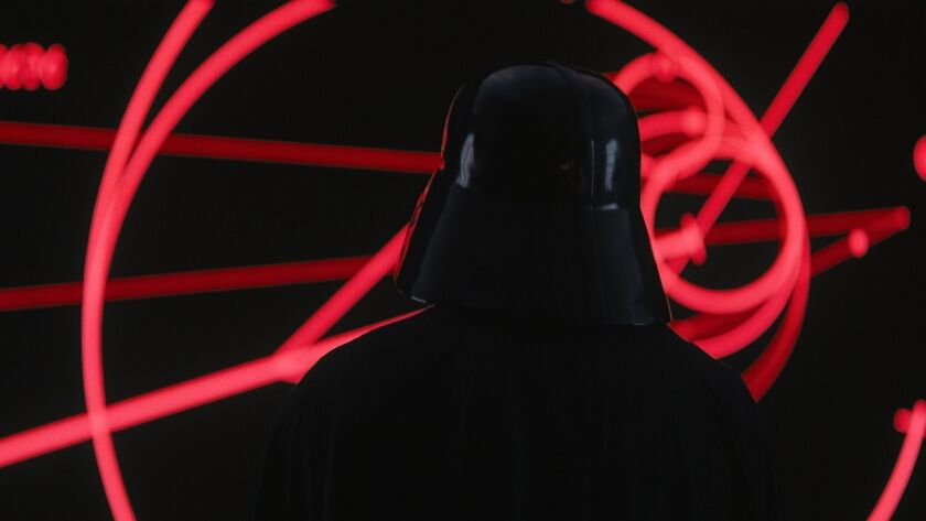 "Darth Vader (voiced by James Earl Jones) in ""Rogue One: A Star Wars Story."""