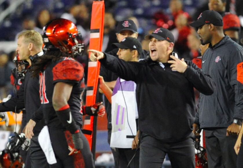 Zach Arnett has spent nine seasons on San Diego State's coaching staff, including the past two years as defensive coordinator.