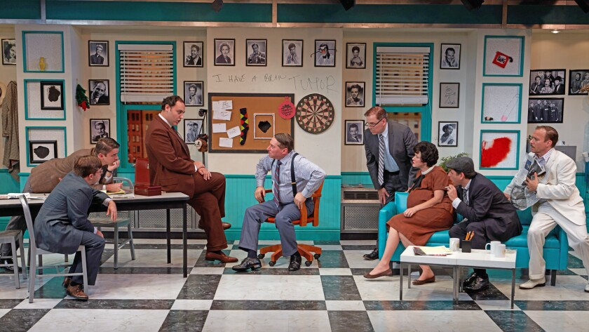 """North Coast Repertory Theatre publicity photo – """"Laughter on the 23rd Floor"""""""