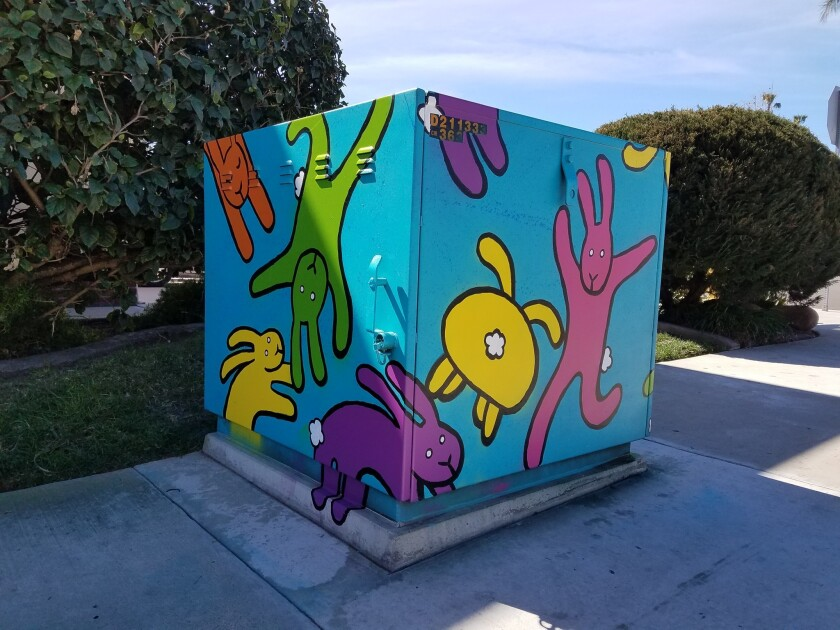 Utility box painted by Mandy Jouan.