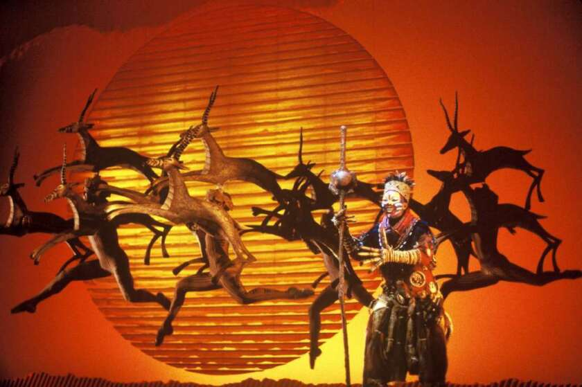 """A scene from Disney's musical """"The Lion King."""""""