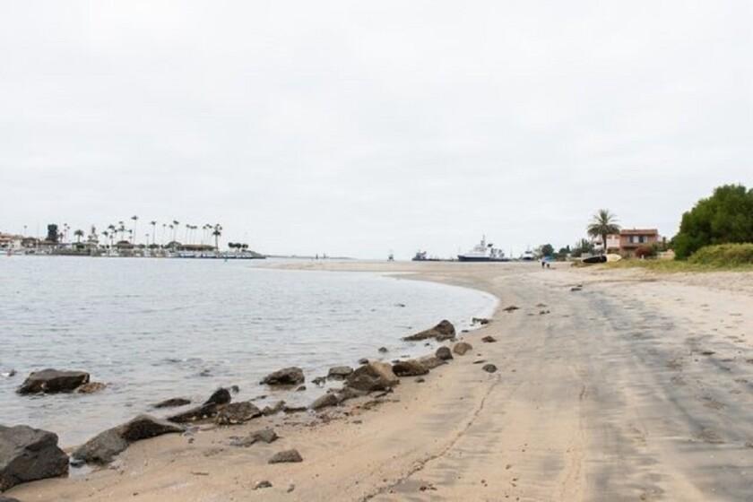 About 2,200 cubic yards of natural sand will be placed on Kellogg Beach in Point Loma during a replenishment project.