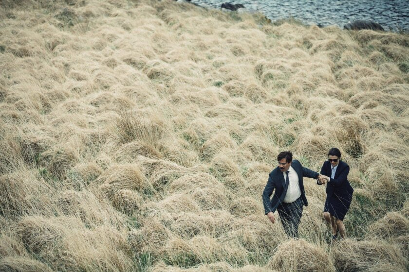 """Colin Farrell as David and Rachel Weisz as Short Sighted Woman in """"The Lobster."""""""