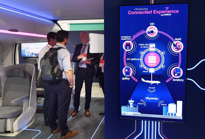 Airbus exhibit on its connected experience