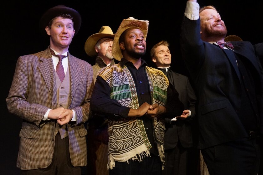 A scene from the musical 'Rope,' performed this year at Robert Moss Theater in New York City. La Jolla playwright Mark Sickman plans to stage the musical again early next year at San Diego's Tenth Avenue Arts Center.