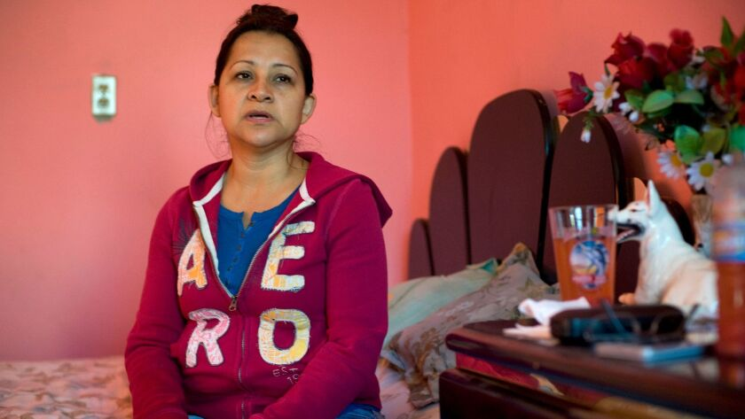 Maria Teresa Robles 38, at a relative's house in Tijuana. Robles, a single mother of twin 18-year-daughters who are U.S, citizens, returned to Mexico after the U.S. Border Patrol detained her in Escondido, where she had been living without documents for 19 years.