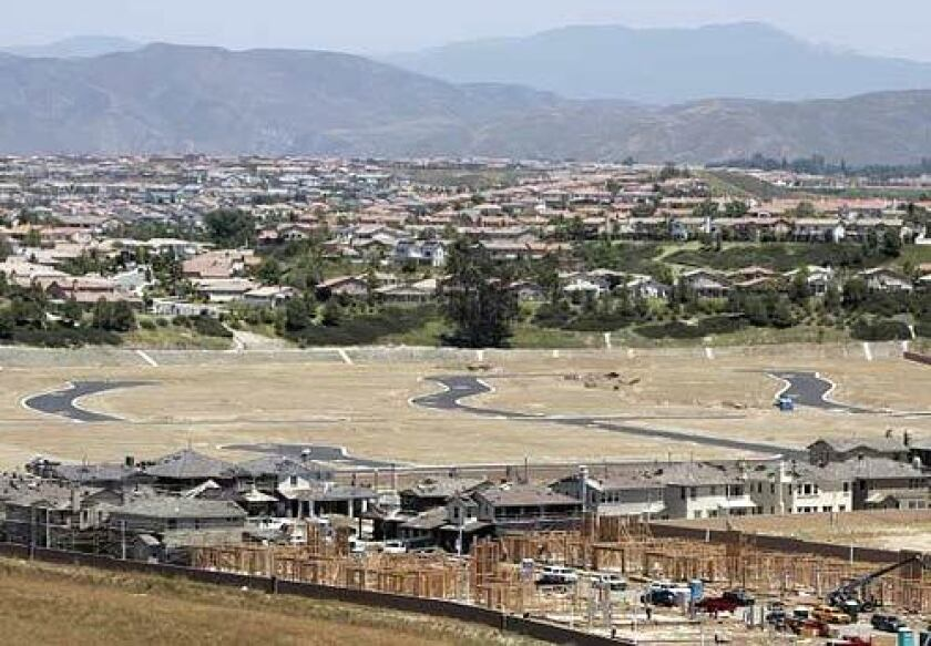 A planned community in Temecula under construction in May.
