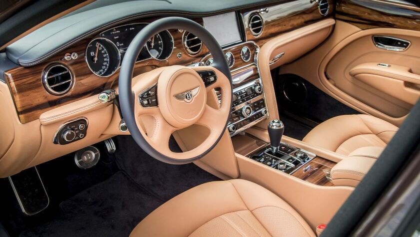 There is much richness in the Mulsanne's materials and carpeting.