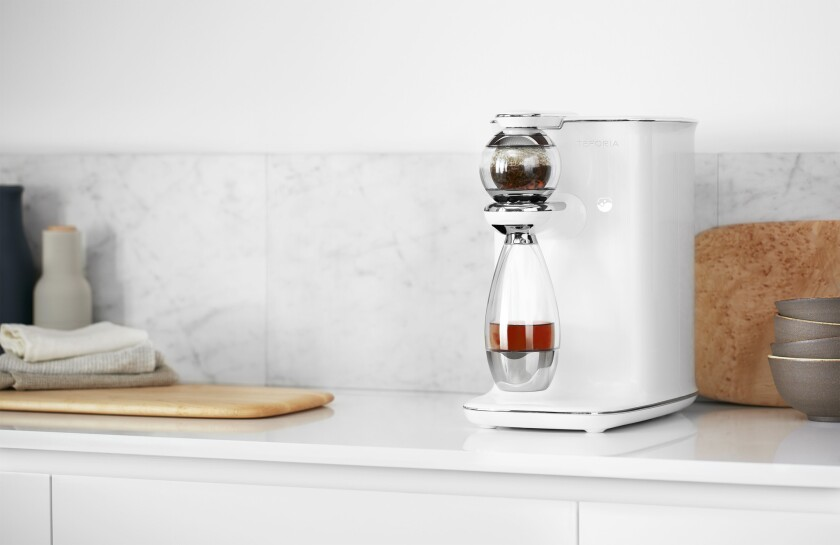 Teforia's $1,299 tea infuser will be stocked in B8ta's store in Palo Alto.