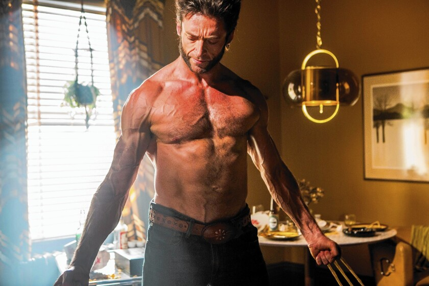 Hugh Jackman as Wolverine. He says he stays in shape all the time to be prepared for his role. But when he's Broadway bound, he doesn't want to be muscle-bound.