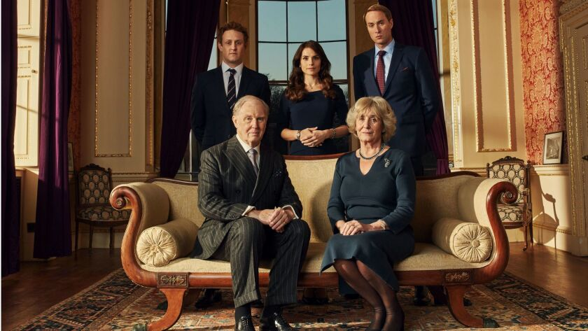 Richard Goulding as Harry, Charlotte Riley as Kate, and Oliver Chris as William, with Tim Pigott-Smi