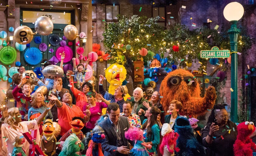 """Sesame Street's 50th Anniversary Celebration"" on HBO."
