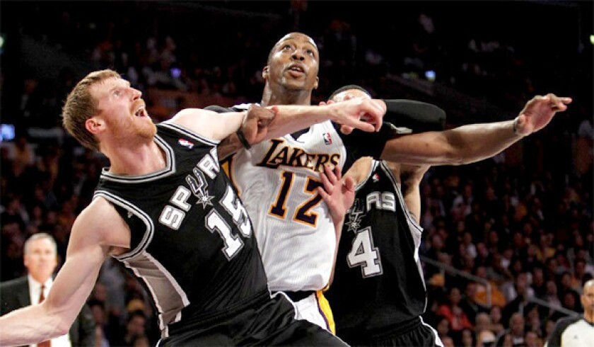The Lakers grabbed the seventh seed and earned the right to play the San Antonio, but writer Ben Bolch says the Spurs will win in five games.