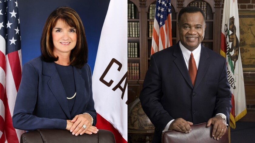 Diane Harkey (R-Dana Point) represents the State Board of Equalization's 4th District, and Jerome Horton (D-Inglewood) represents the board's 3rd District