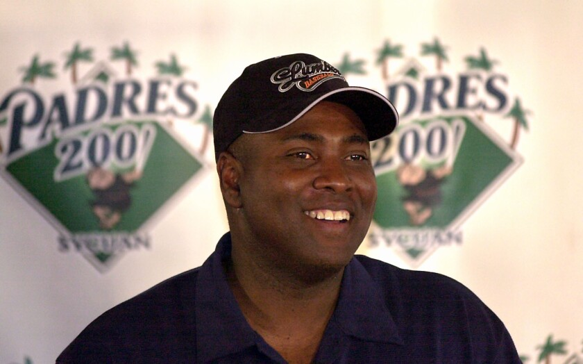 Tony Gwynn announced his intention to retire at a news conference in June 2001.