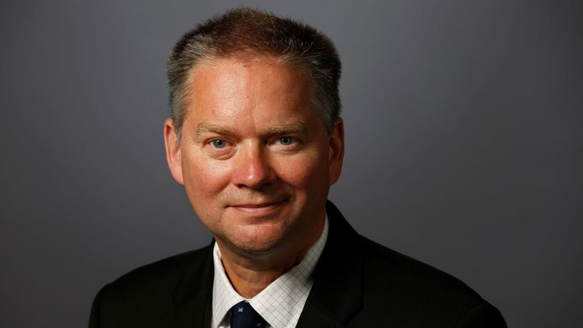 Jim Kirk was officially named editor in chief of the Los Angeles Times on Monday.