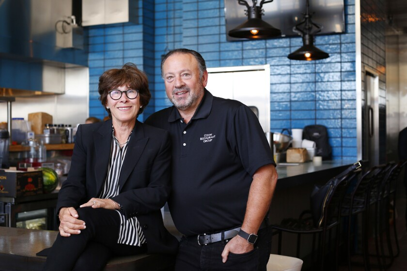 Lesley and David Cohn, founders of the Cohn Restaurant Group, are opening Libertad, a taco shop in Hillcrest in which 100 percent of the proceeds will go to charity. (K.C. Alfred/Union-Tribune)