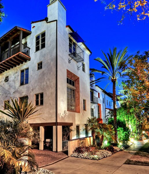 The villas range from one to four stories.
