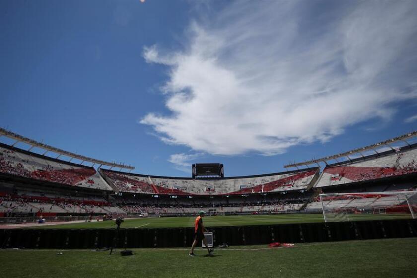 Fotografía del estadio Monumental hoy, domingo 25 de noviembre de 2018, en Buenos Aires (Argentina). EFE