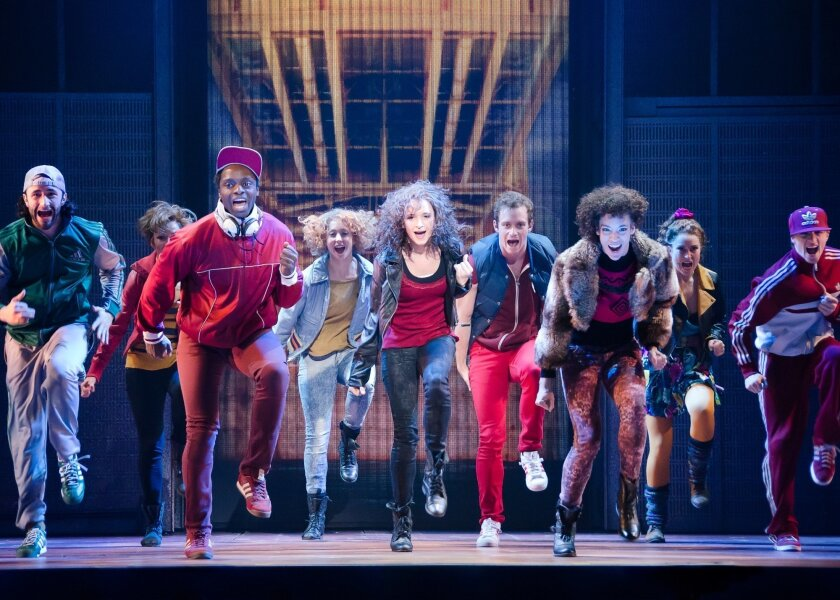 """The cast of """"Flashdance the Musical."""" CREDIT: Kyle Froman"""