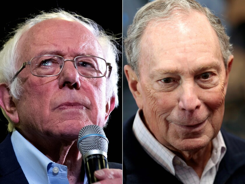 Bernie Sanders and Michael Bloomberg represent two different poles of the U.S. Jewish experience.