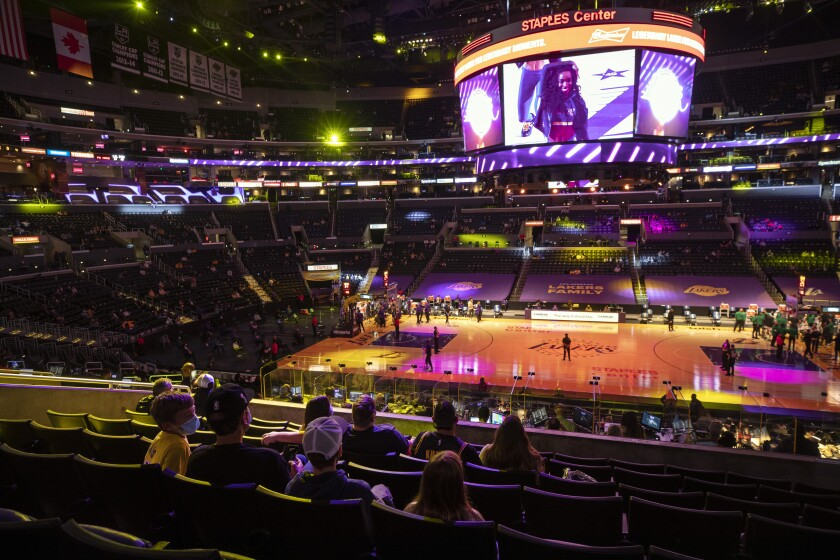 For the first time in more than a year, fans were allowed to attend a game at Staples Center on Thursday.