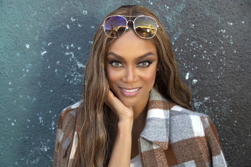 LOS ANGELES, CA - NOVEMBER 26, 2018 - Tyra Banks photographed outside the Social Activation for Life