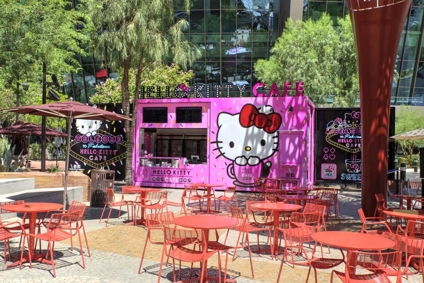 The Hello Kitty Cafe, which started as a pop-up in Las Vegas, now has a semi-permanent home in The Park, by T-Mobile Arena.