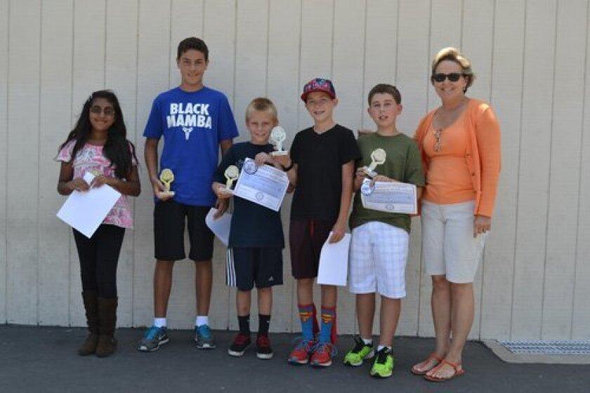 Solana Santa Fe Math Olympiad winners