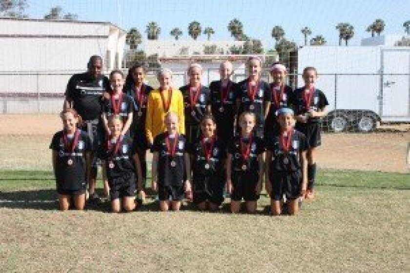 The Surf Girls Academy U12, coached by Steveo Leacock, were finalists at the Notts Forest Labor Day Cup.