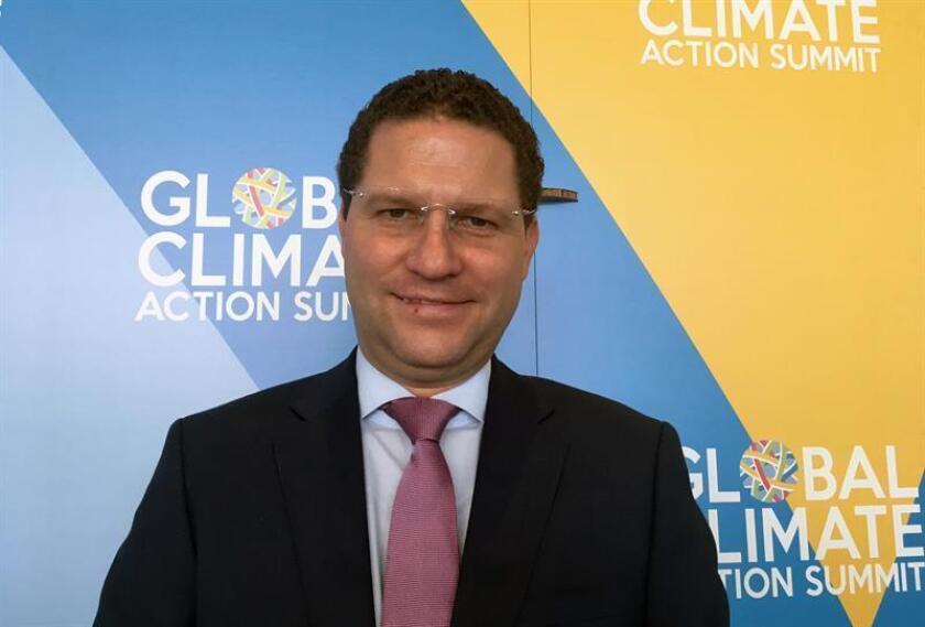 El alcalde de Quito, Mauricio Rodas, posa para Efe durante su participación en la Cumbre de Acción Climática Global hoy, viernes 14 de septiembre de 2018, en San Francisco, California (EE.UU.). EFE