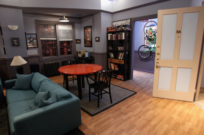 """Seinfeld: The Apartment"" re-creates Jerry Seinfeld's familiar TV home in West Hollywood."