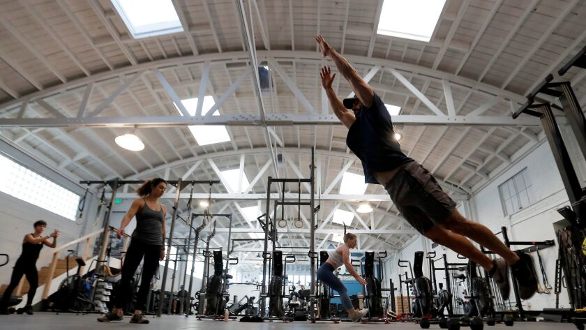 At the Pharos Athletic Club in Echo Park, workouts emphasize mechanics, strength and conditioning.