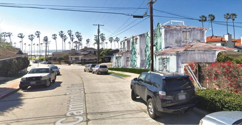 A rendering depicts a development proposed for 8405 Paseo del Ocaso in La Jolla Shores.
