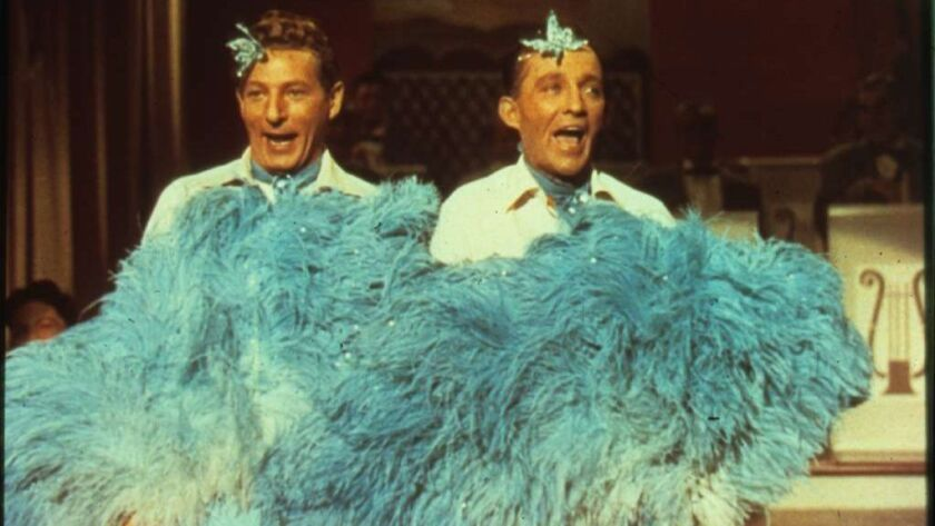 "Danny Kaye, left, and Bing Crosby in the 1954 classic ""White Christmas."""