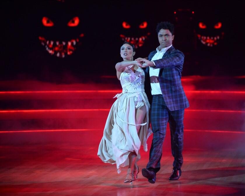 Jeannie Mai dances with Brandon Armstrong