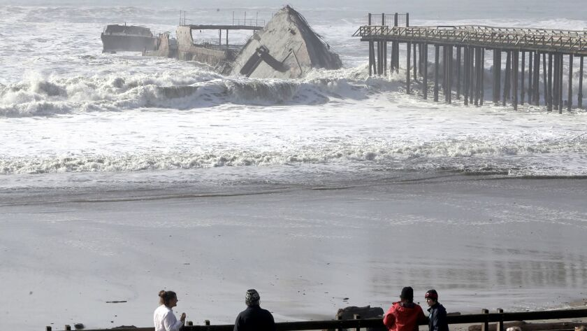 The historic World War I-era tanker Palo Alto was torn apart by massive waves.