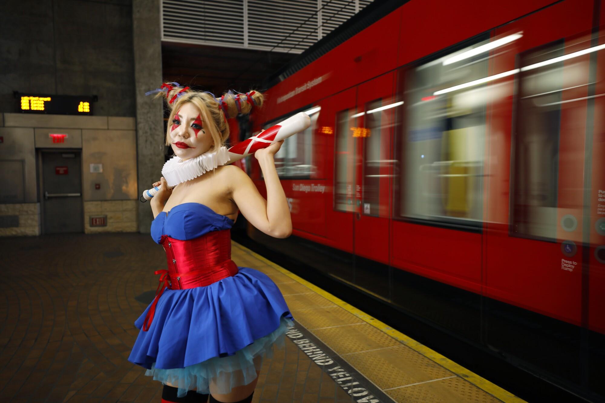 "Tita Ghanjanasak dressed as Harley Quinn in ""Batman: The Dark Prince Charming"""