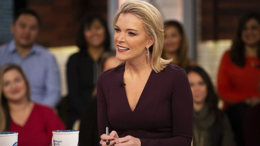 "This Oct. 22, 2018 photo released by NBC shows Megyn Kelly on the set of her show ""Megyn Kelly Today"