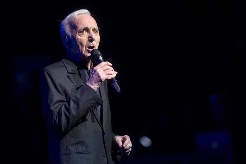 El cantante francés Charles Aznavour. EFE/Archivo